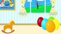 Learn Colours   Surprise Eggs filled with TOYS ★ Coloring Book ★ Colors for Kids, Toddlers & Babies