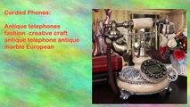 Antique telephones fashion creative craft antique telephone antique marble European