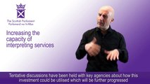 British Sign Language (Scotland) Bill: Increasing the capacity of interpreting services