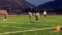 Brinton Montgomery #83 SHS Sophomore gets interception against Maple Mountain High School 2015