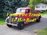 1937 Ford Fire Truck Conversion To Hot Rod Hiboy,  Rat Rod Pickup