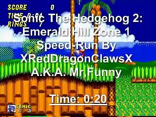 Sonic 2: Emerald Hill Zone 1: 20-Second Speed-Run