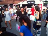 Thailand Tourist Police was dancing Sorry Sorry (Super Junior) at Chiang Mai Walking Street