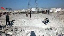 (12-21-13) Masaakin Hanano | Aleppo | Regime Forces Shell Highway Hanano/Hadariya