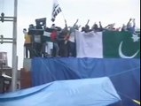 Protesters waved Pakistani flag after Eid‬ al-Fitr prayers Indian Army Terrorism In Kashmir