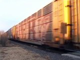 Auto train with CSX engines: BNSF Topeka sub 11-16-11