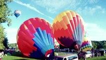 Quechee Vermont Hot Air Balloon Festival 2011 - Balloon Launch Time Lapse