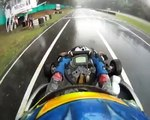 Increible Karting con lluvia / Incredible Karting with rain