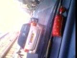 in car in paris