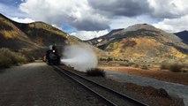 Durango & Silverton Narrow Gauge Train Departs Silverton for Durango