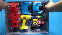 Ou robot outil jouer Y jeu sorti le géant a voiture et la puissance des outils qui contient. Tobot jouet outils