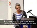 Sisa Ngabaza & Lindsay Clowes: Evaluating student writing using Turnitin's grade mark facility