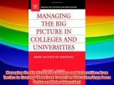 Managing the Big Picture in Colleges and Universities: From Tactics to Strategy (American Council
