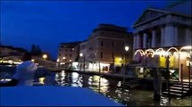 Venice: A musical ride at night with a water-taxi through the Grand Canal - HD