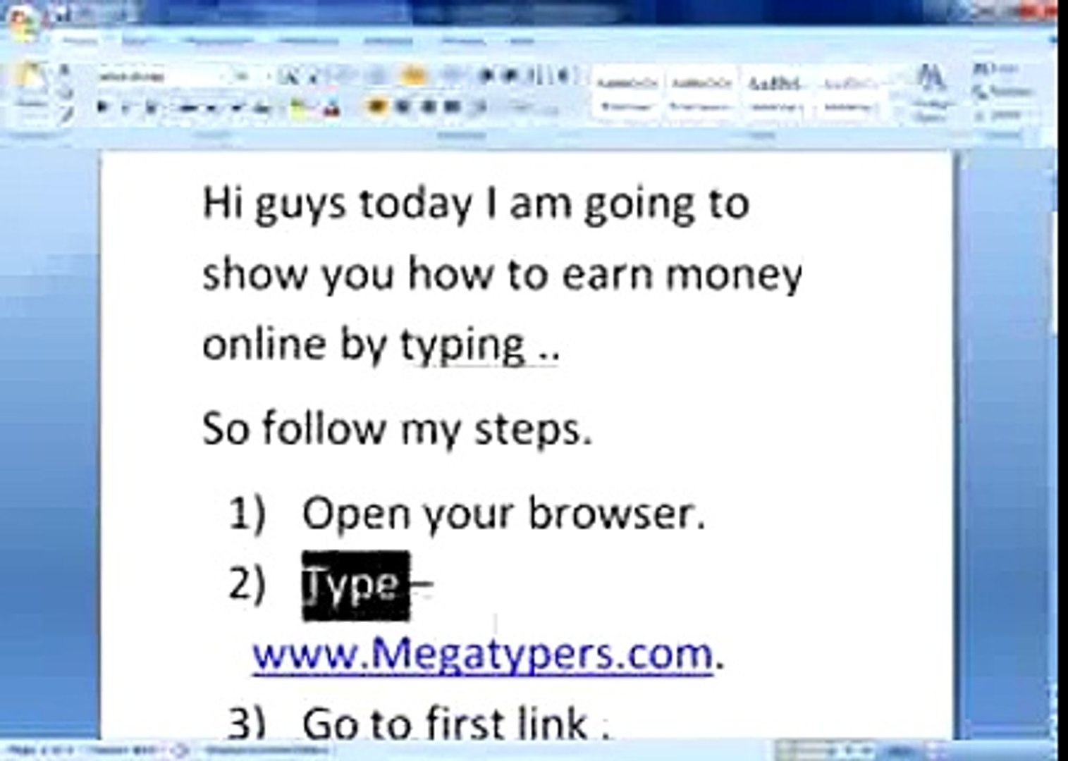 HOW TO EARN MONEY BY TYPING ONLINE