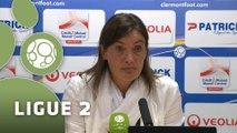 Conférence de presse Clermont Foot - Paris FC (1-1) : Corinne DIACRE (CF63) - Denis RENAUD (PFC) - 2015/2016