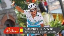Resumen - Etapa 20 (San Lorenzo de El Escorial / Cercedilla) - La Vuelta a España 2015