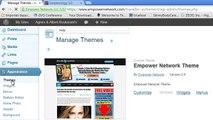 Modifier la bannière de l'entête et l'arrière plan de son blog empower network