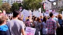 Manifestaciones en diferentes ciudades europeas a favor de la acogida de refugiados