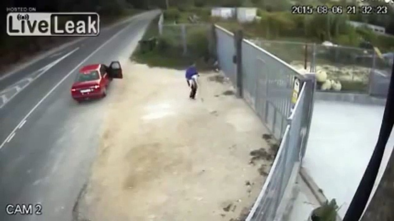 LiveLeak Dog owner trying to throw unwanted pet over 10ft fence
