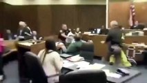 Dad Punches Daughter's Killer in Court - Father Attacks His 3-Years-old Daughter's Killer in Court -