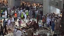 Makkah | Masjid ul Haram | Crane falls on Pilgrims | Footage | Report | Sand Storm hits Makkah - Holy City during Hajj