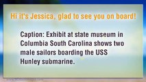 USS Hunley Submarine Display at State Museum Columbia South Carolina: Stock Photos for Editorial Use