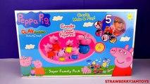 Peppa Pig Play Doh Cookie Monster George Create Your Own Figures Clay Buddies DIY StrawberryJamToys