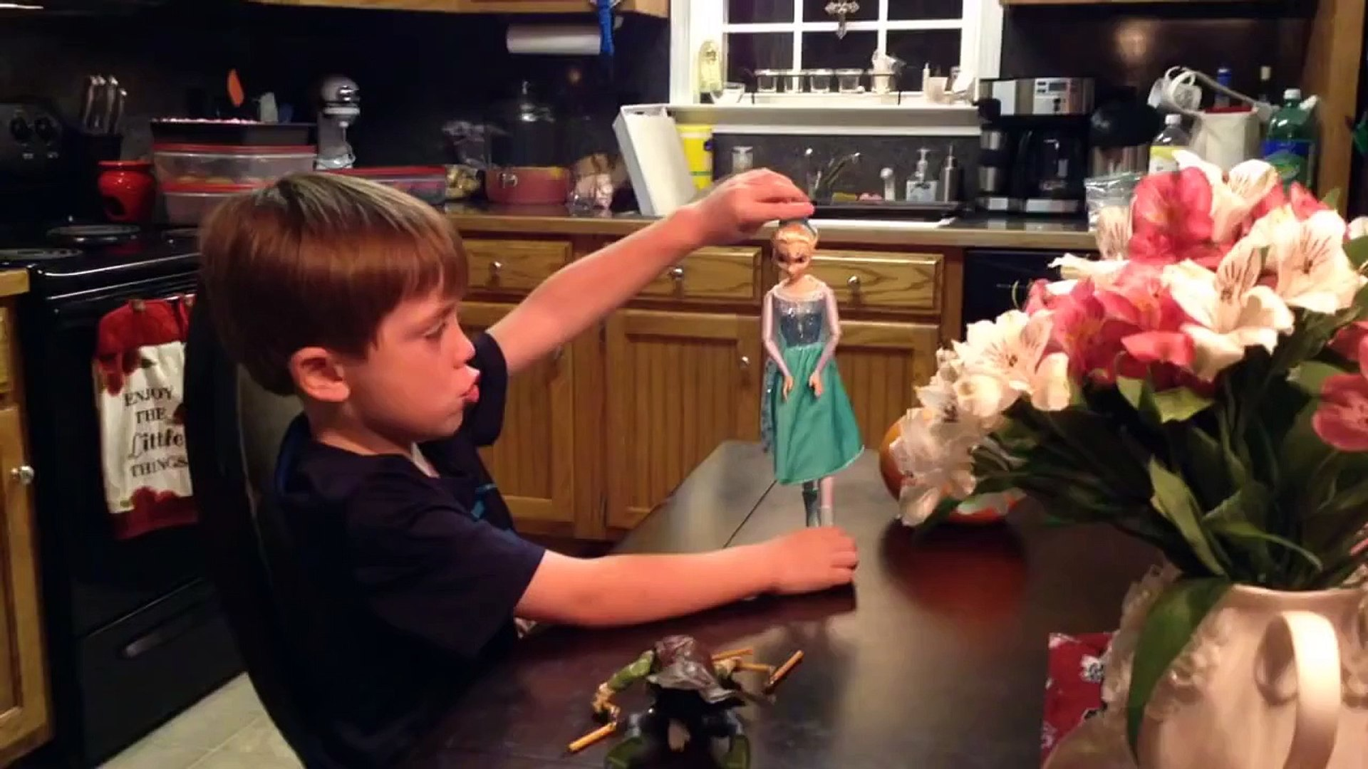Kid Caught Playing With Dolls