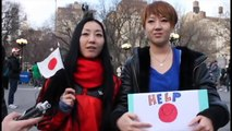 """""""Pray for Japan"""" Messages from the world (Union sq,New York and Japan 2011)"""