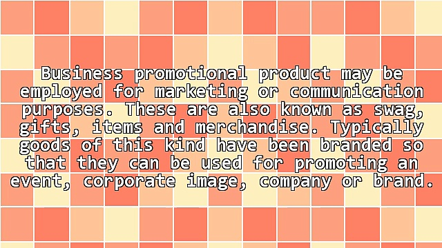 General Details Of Business Promotional Product