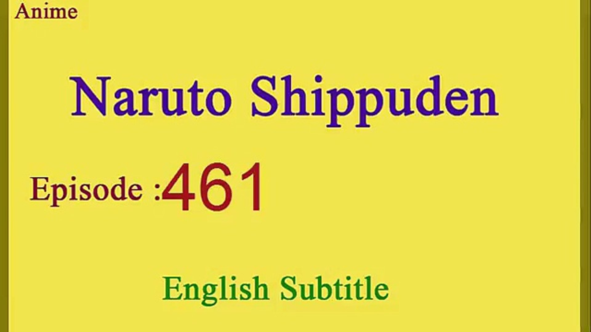 Naruto Shippuden English Subtitle Episode 461