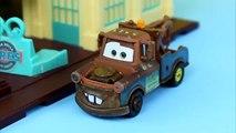 Disney Pixar Cars Lightning McQueen, Mater, Ramone, Guido & Luigi play Hide and go seek