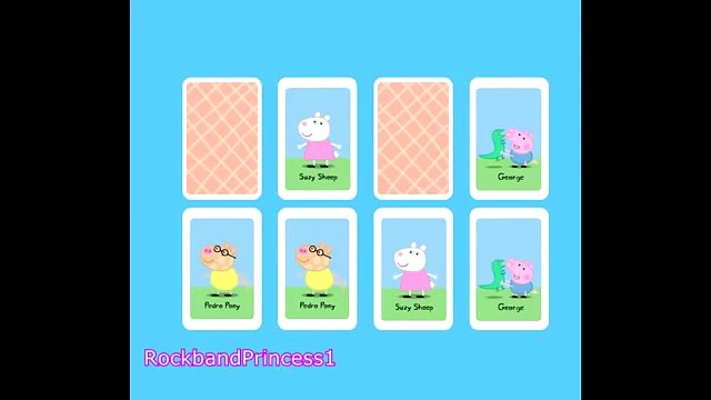 Peppa Pig Games Peppa Pig Card Matching Pairs Game   Peppa Pig Gameplay