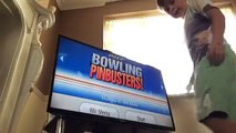 Bowling wii so fun