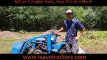 Ford LGT 145 Garden Tractor Front End Loader and Landscape Rake at Work