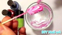 ULTRAVIOLET PINK SWIRLS BEST 2014 UV Water Marble Nail Art Tutorial