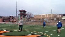 JP Shoiry, QB Sherbrooke, throws to Sam Giguere, WR Indianapolis Colts