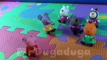 Peppa Pig en français. Peppa Cochone peind. Peppa avec ses amis ont la compétition