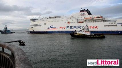 My Ferry Link : le Rodin quitte le port de Calais