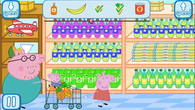 Peppa Pig at the Supermarket Part 1   best app demos for kids | peppa pig games