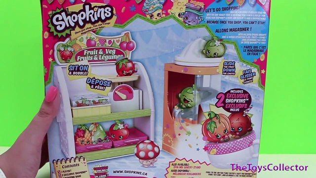 Shopkins Fruits & Veggie Stand Playset Disney Princess Sofia Shopping at Supermarket Ultra