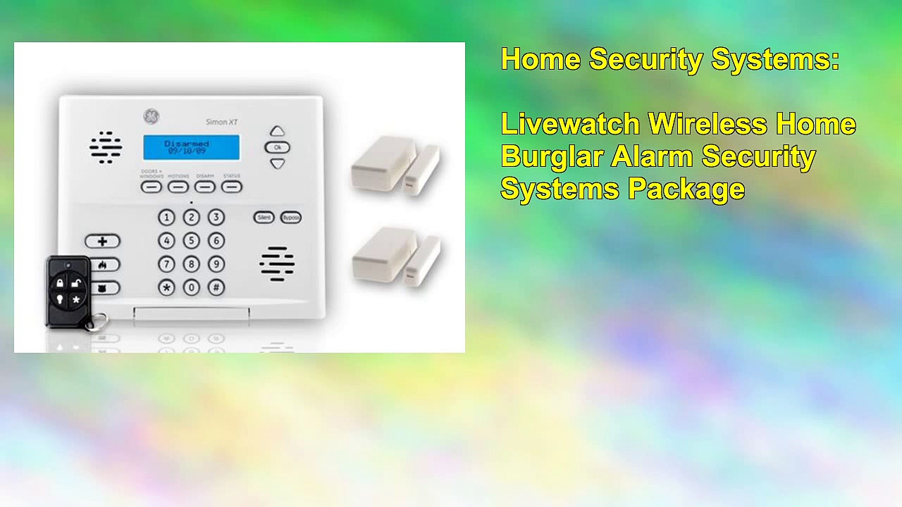 Livewatch Wireless Home Burglar Alarm Security Systems Package