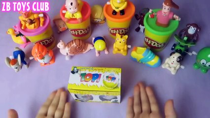Play Doh Peppa Pig Kinder surprise eggs Mickey Mouse 11
