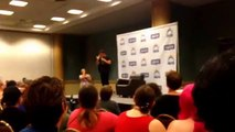 John Barrowman Penis with Sign Language Translator Beach Comic-Con 2015 Torchwood Arrow