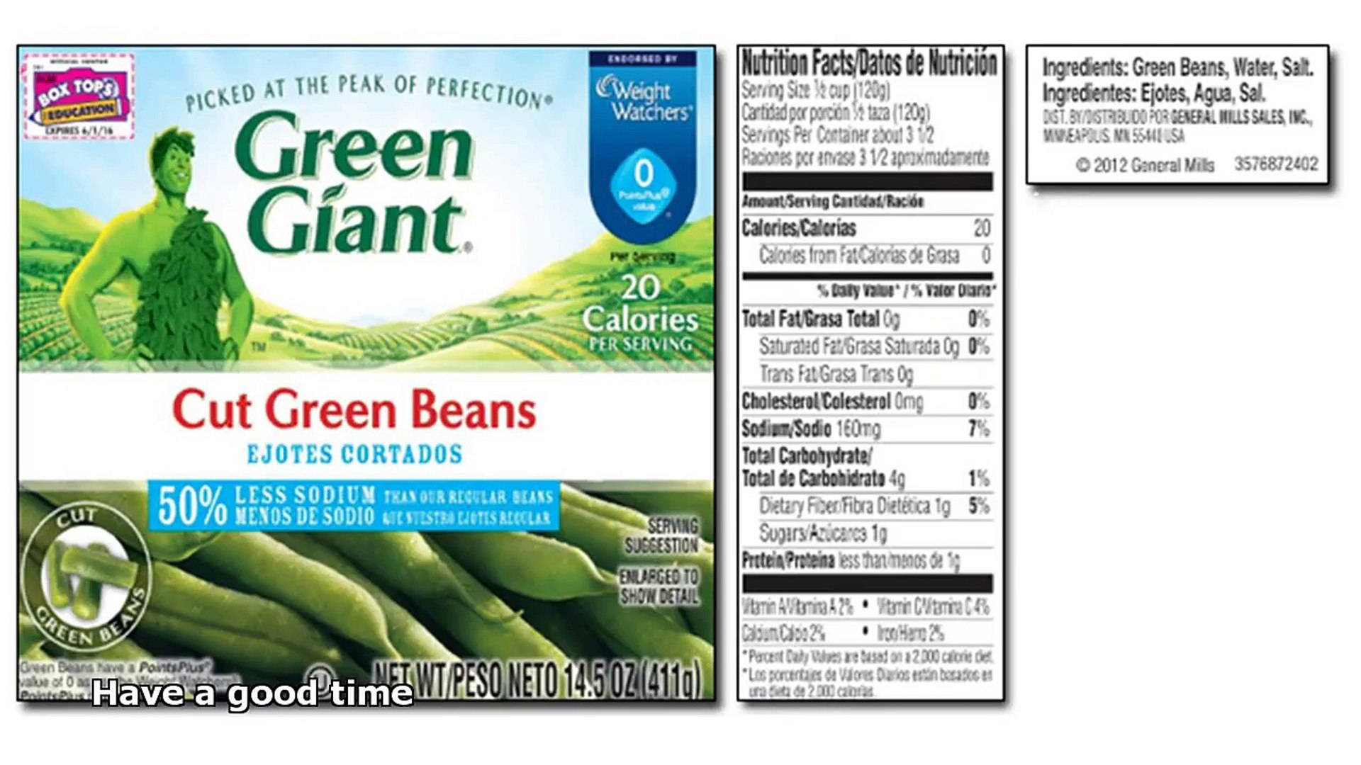 Calories In Canned Green Beans Video Dailymotion
