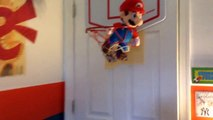Shooting Hoops With Mario Stuffed Animal Music Video!