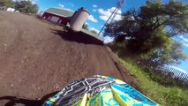 Aztalan gopro Open C MADNESS! 9/13/15: Exciting first moto in open c Max Mayer  #368