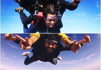 Oriane et Mourad le producteur ont sauté en parachute