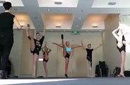Maddie Ziegler, Mackenzie Ziegler,  Kalani Hilliker Doing Kick Turns!